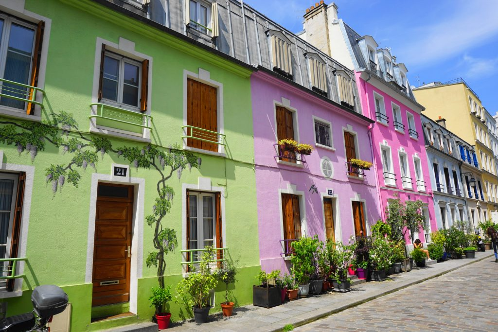 Rue Cremieux colorful houses