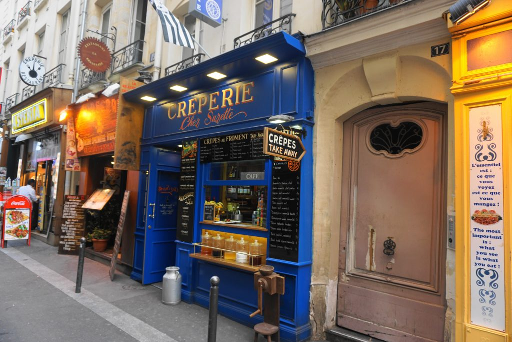 Rue St Severin creperie shop