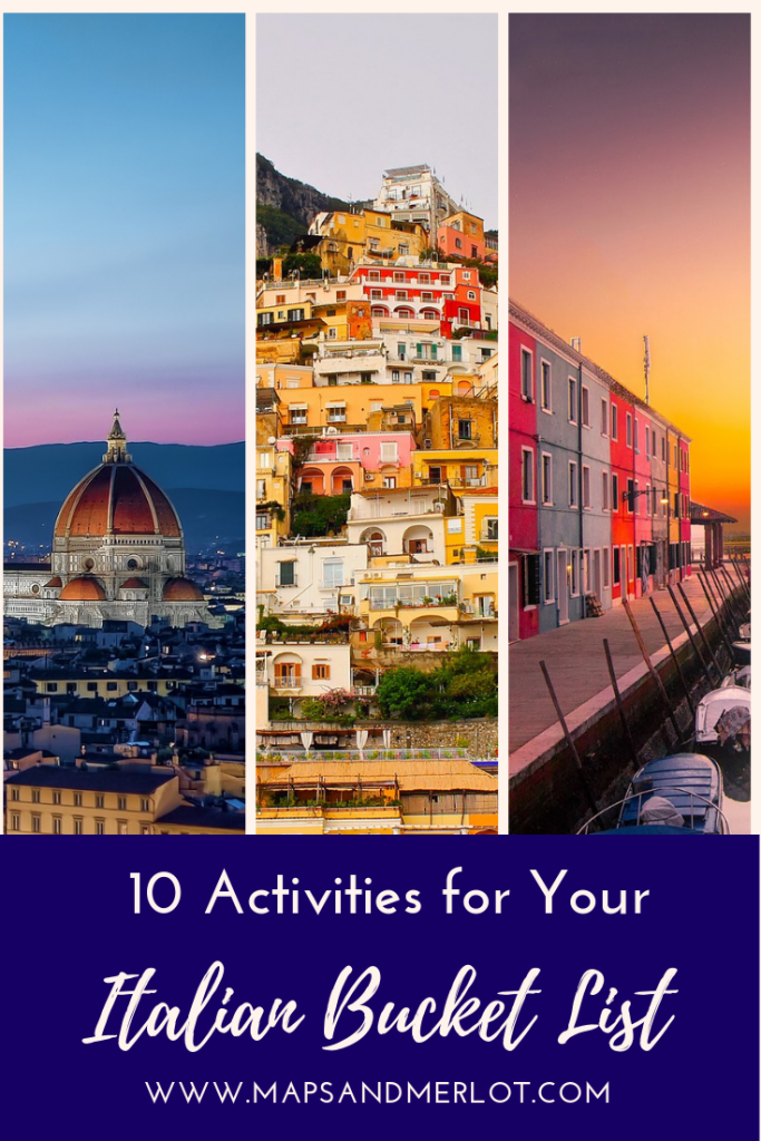 10 activities for your Italy bucket list #florence #venice #burano #cinqueterre #visititaly