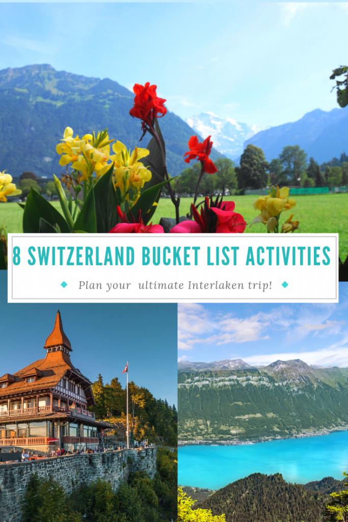 Explore the top Interlaken, Switzerland bucket list activities! #visitinterlaken #switzerland #paraglide