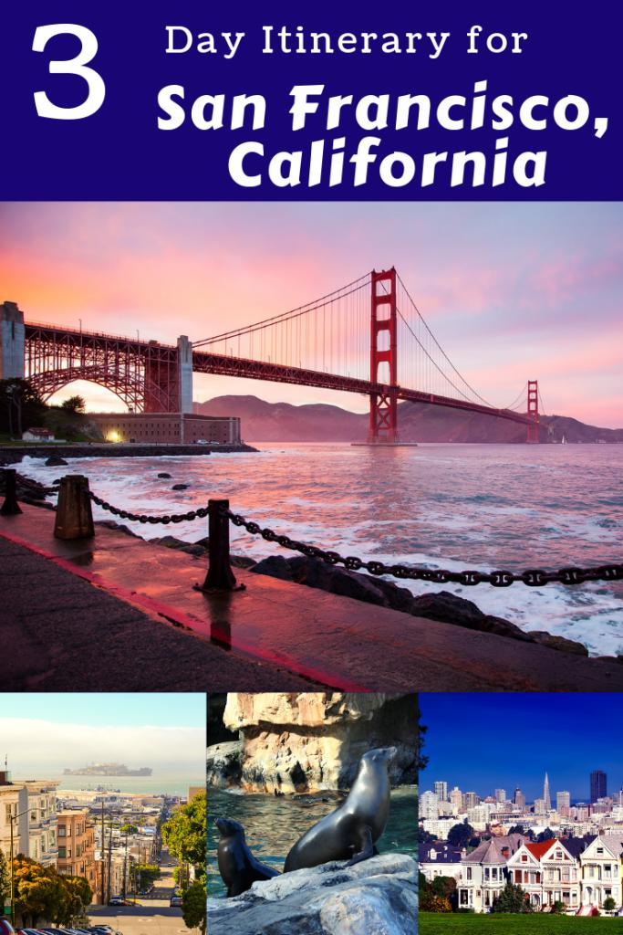 Plan the perfect 3 day San Francisco itinerary! #sanfrancisco #california #goldengatebridge