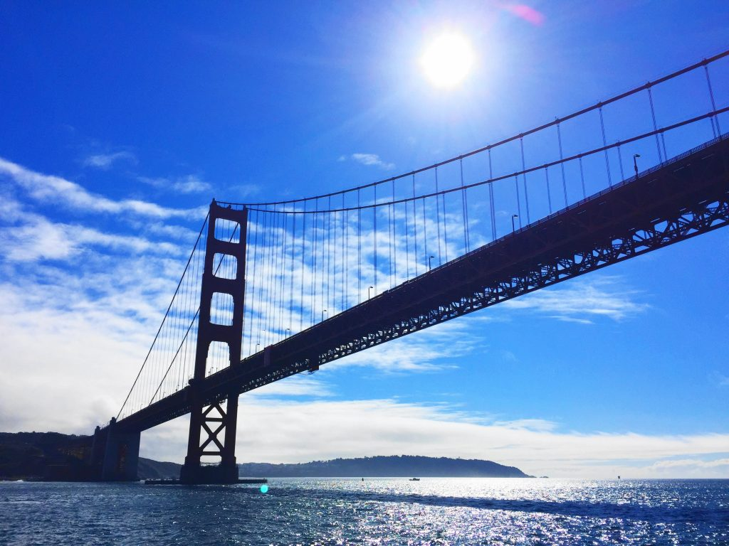 8 day Pacific Coast Highway road trip itinerary - San Francisco Golden Gate Bridge
